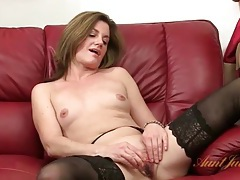 Stockings and heels on classy masturbating milf tubes