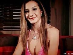 Cute bikini girl alice romain gives an interview tubes