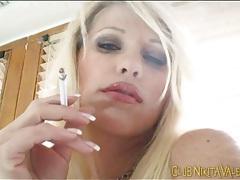 Nikita valentin smokes cigarettes in lingerie tubes