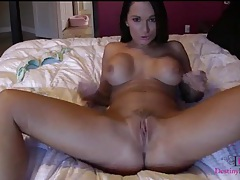 Big breasts webcam girl in sexy solo play tubes