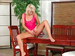 Skinny blonde natasha voya in sheer teddy tubes