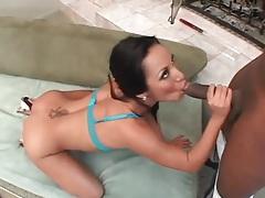 Sexy asian sucks a black cock like a slut tubes