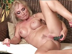 Sexy pink high heels on dildo fucking momma tubes