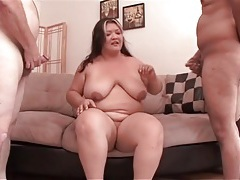 Masked guys gangbang a bbw slut in hot porn tubes