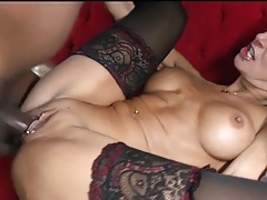 Fit blonde milf fucked by big black cock tubes