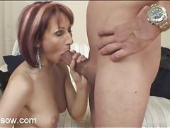 Long legged redhead mom gives a good blowjob tubes