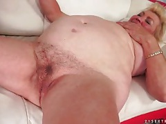 Dildo arouses granny for hot young guy sex tubes