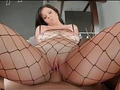 Curvy girl in fishnet body stocking fucked hardcore tubes