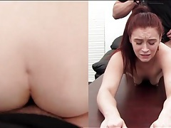 Redhead cutie moans during hot anal sex tubes