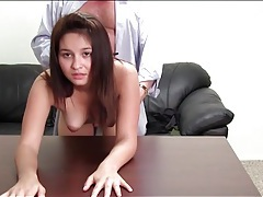 Young brunette blows and fucks big cock tubes