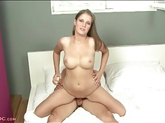 Sexy cock rider has arousing fake tits tubes