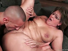Old vagina fucked in a missionary sex scene tubes