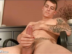 Twink licks plastic asshole and fucks it tubes