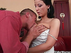 Soccer mom with big tits sucks cock and gets fucked tubes