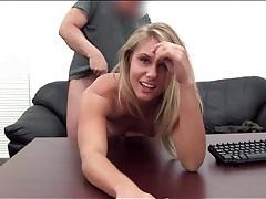 Beautiful blonde amateur takes a creampie tubes