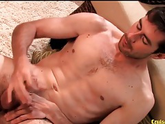 Sexy beard on solo guy jerking off his cock tubes