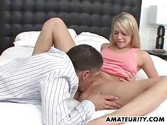 Blonde amateur girlfriend enjoys a big cock tubes