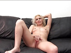 Casting couch blowjob from skinny blonde tubes