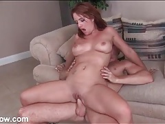 Younger man pounds shaved milf pussy hard tubes