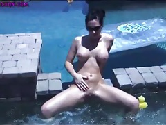 Hot tub babe destiny dixon in a tiny bikini tubes