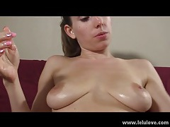 Oiled up tits and pussy of lelu love tubes