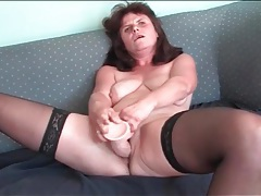 Euro housewife has hot sex with a dildo tubes