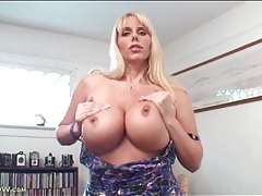 Karen fisher strips from sexy dress and masturbates tubes
