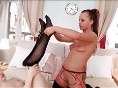 Girls in nylons play foot fetish games tubes