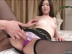Skirt and stockings are sexy on japanese girl tubes