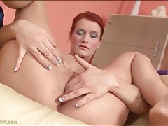 Little titty redhead masturbates her hot pussy tubes