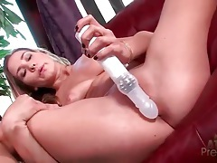 Long spinning dildo in wet cunt of a solo girl tubes