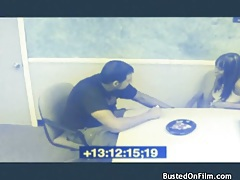 Break room blowjob caught on security camera tubes