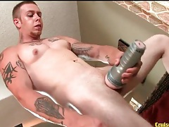 Frank fucks a fleshlight with his hard dick tubes