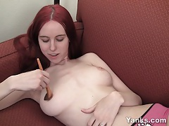 Busty rose pleasing her pussy tubes