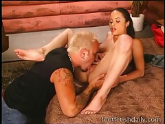 Hot cunt eaten out lustily and fucked deep tubes