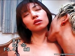 Lingerie looks sexy on skinny asian in tease video tubes