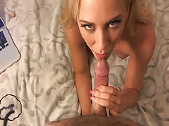Pov fuck makes him shoot cum on her tight stomach tubes