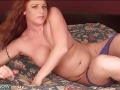 Curvy milf body is sexy in lace lingerie tubes