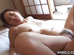 Sexy japanese girl on her back for hot sex tubes