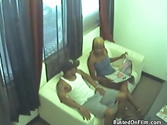 Black couple has hardcore sex on security camera tubes