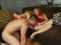 Shaved mom cunt rides that dick reverse cowgirl tubes