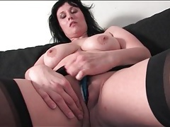 Voluptuous mature brunette with a fat ass tubes