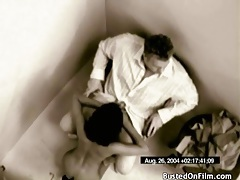 Girl in security cam video gives a hot blowjob tubes