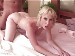 Curvy blonde mature riding hard dick in porn tubes