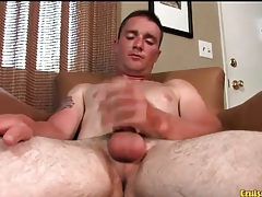 Young sweaty guy in masturbation session tubes