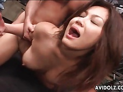 Anal sex with a slutty japanese girl on her knees tubes