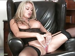 Big milf tits out of lingerie as she masturbates tubes