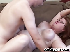 Chubby amateur girlfriend sucks and fucks at home tubes