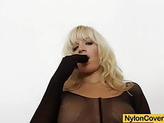 Wicked blonde distorted nylon mask face tubes