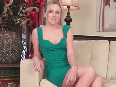 Blonde summer taylor strips from tight dress tubes